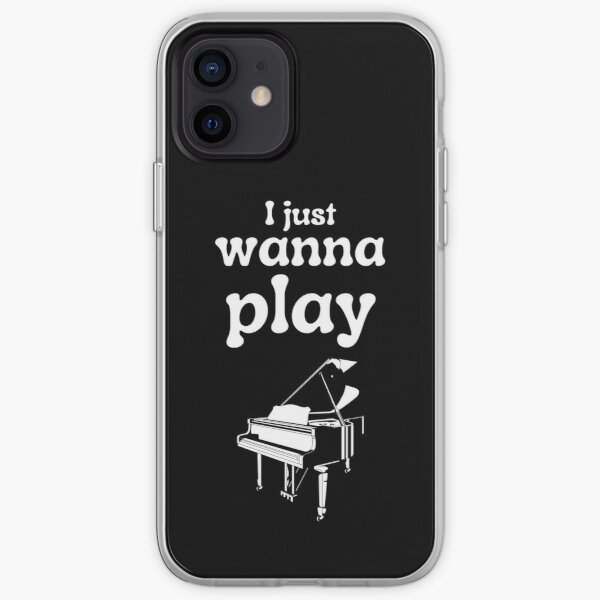 I just wanna play the piano iPhone Soft Case