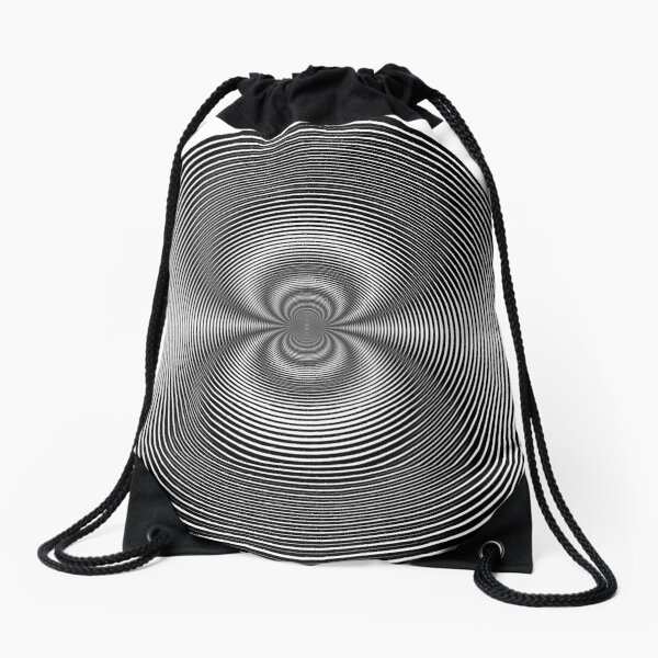 Circle Grid Drawstring Bag