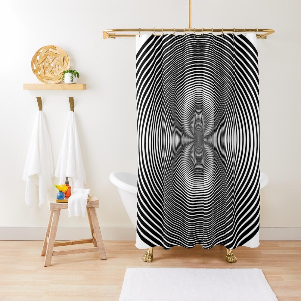 Circle Grid Shower Curtain