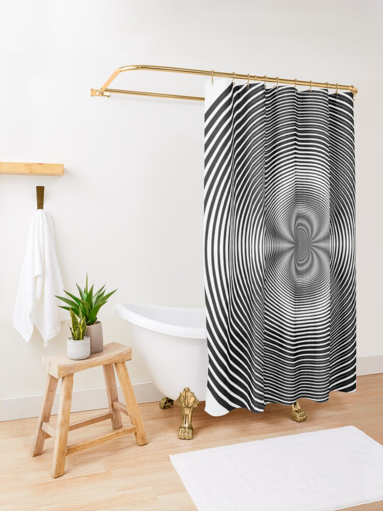 Alternate view of Circle Grid Shower Curtain