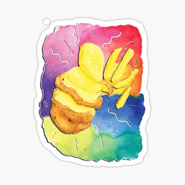 Rainbow Potato Vibes Sticker