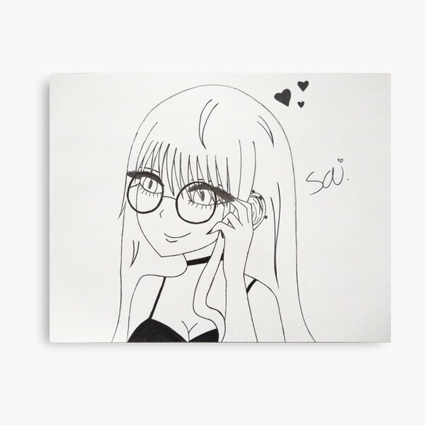 Misaki Sai Metal Print