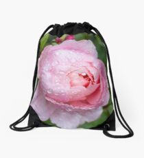 Raindrop rose Drawstring Bag