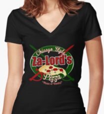 Pizza or Death! Women's Fitted V-Neck T-Shirt