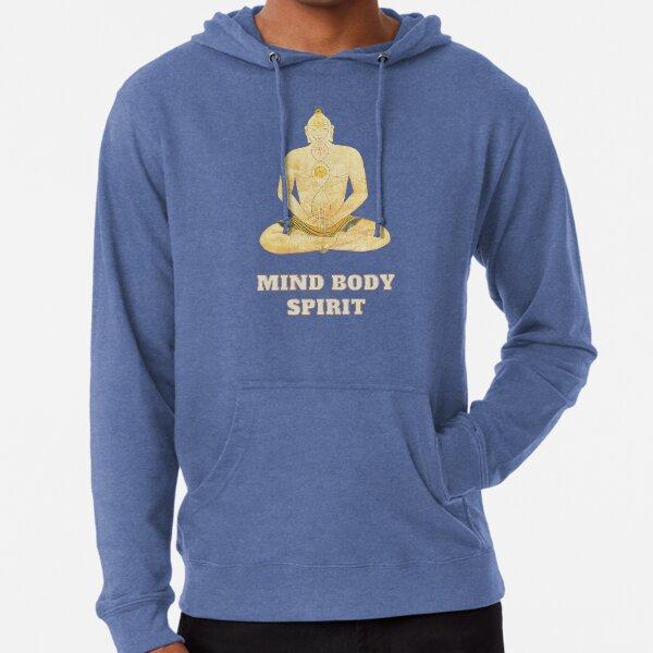 Buddhism Mind Body Spirit T-Shirt, Buddha Tee, Buddhist Gift, Buddhism Shirt, Buddha Lover Gifts Lightweight Hoodie