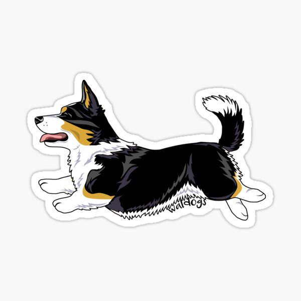 Love Pembroke Welsh Corgi Corgis Queen Dog Breed Cardigan Wales Corgi Sticker