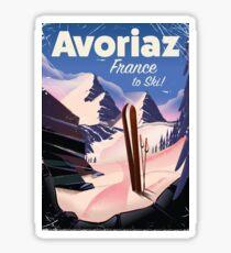 Avoriaz, French Ski travel poster Sticker