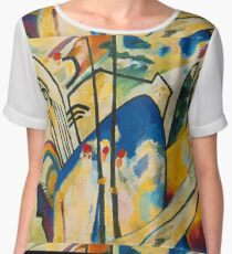 Abstract Kandinsky art Women's Chiffon Top