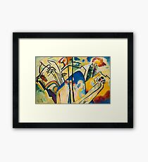 Abstract Kandinsky art Framed Print