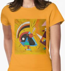 Abstract Kandinsky painting Women's Fitted T-Shirt