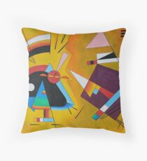 Abstract Kandinsky painting Throw Pillow