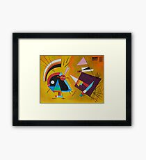 Abstract Kandinsky painting Framed Print