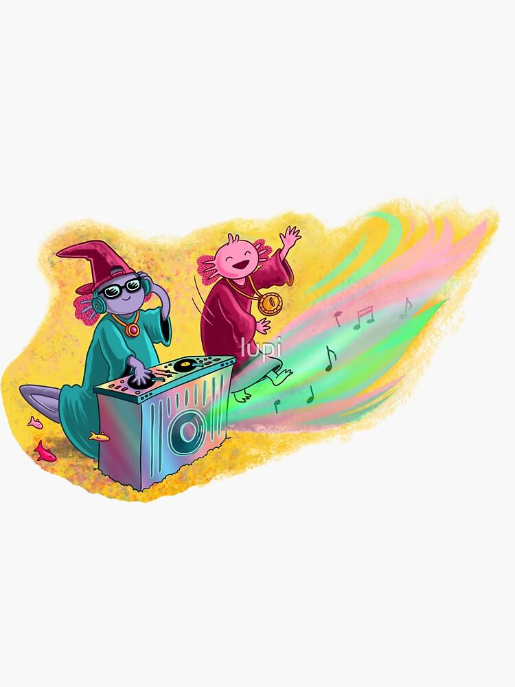 DJ Axolotl Wizard by lupi