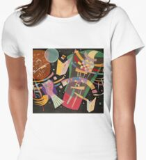 Abstract colour on black Kandinsky painting T-Shirt