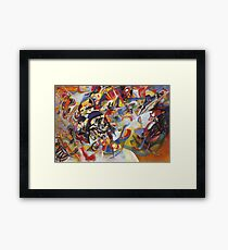 Colourful Detailed Kandinsky painting Framed Print