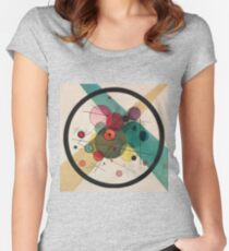 Kandinsky Abstract Painting Women's Fitted Scoop T-Shirt