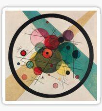 Kandinsky Abstract Painting Sticker