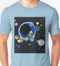 Abstract Kandinsky Painting black and blue T-Shirt