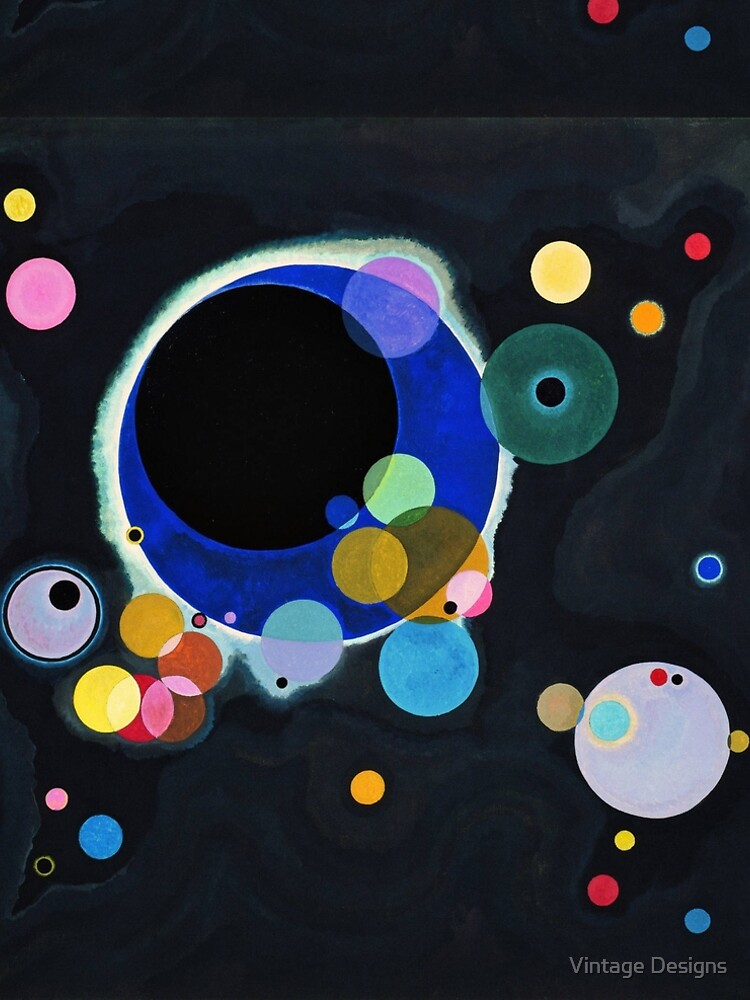 Abstract Kandinsky Painting black and blue by Geekimpact