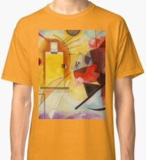 Yellow and Blue Kandinsky painting Classic T-Shirt