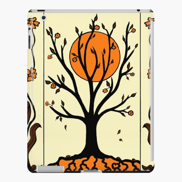 Art Deco Tree and Flowers iPad Snap Case