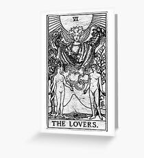 The Lovers Tarot Card - Major Arcana - fortune telling - occult Greeting Card