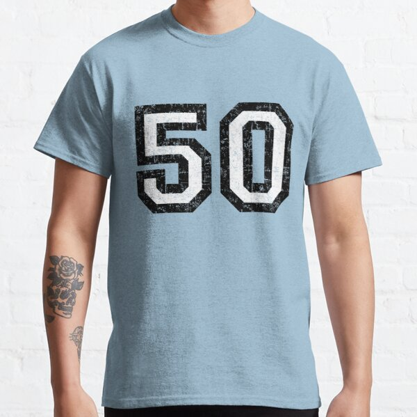 Number 50 (vintage black and white) 50th birthday Classic T-Shirt