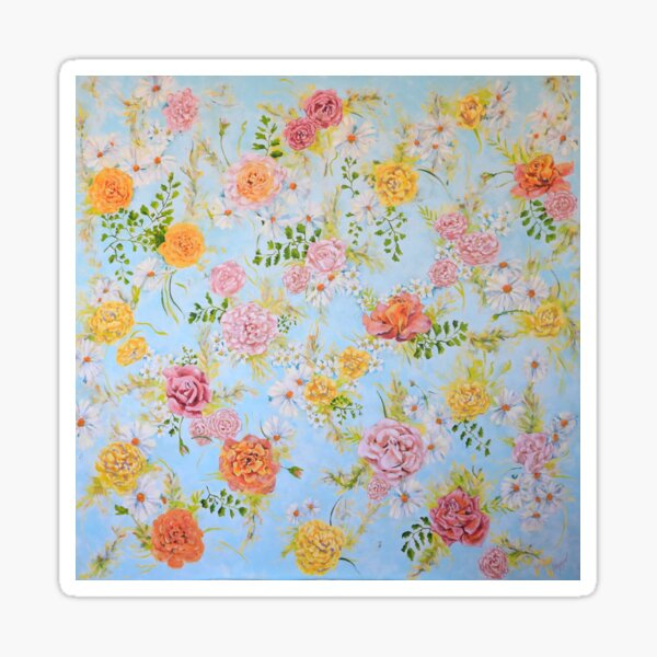 Pretty Bouquets of Roses and Flowers  Sticker