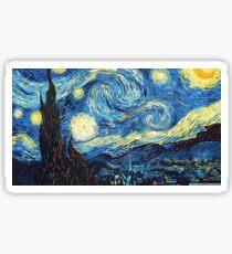 starry night - vincent van gogh Sticker