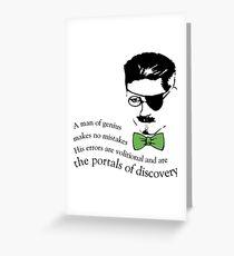 James Joyce Ulysses man of genius Greeting Card