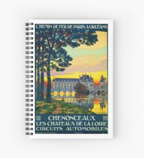 Chenonceaux, French Travel Poster Spiral Notebook