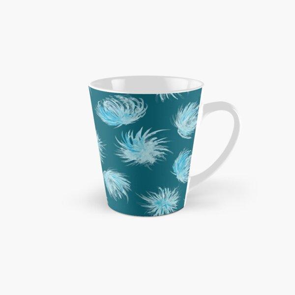Rain flowers on teal watercolor pattern Tall Mug