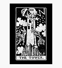 The Tower Tarot Card - Major Arcana - fortune telling - occult Photographic Print