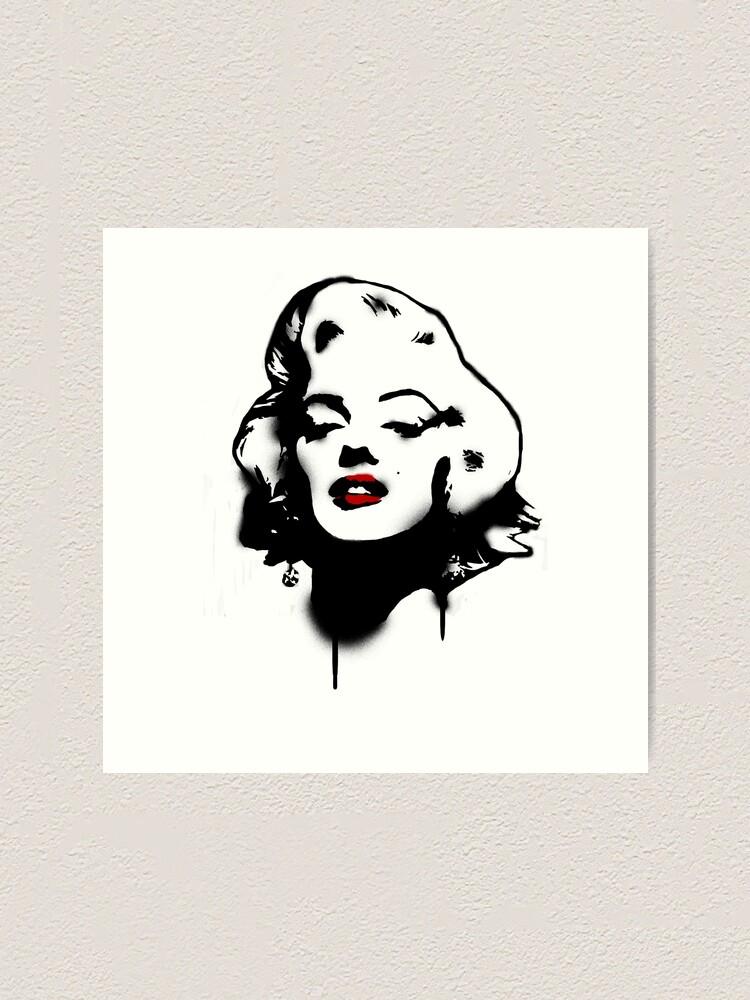 Marilyn Monroe Graffiti Art Print By Fabianhuwel Redbubble