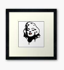 Marilyn Monroe Graffiti Framed Print