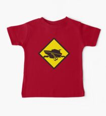 DANGER warning sign Cruise liner boat crossing Baby Tee