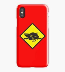DANGER warning sign Cruise liner boat crossing iPhone Case/Skin