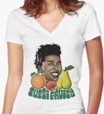 Tutti Fruity Women's Fitted V-Neck T-Shirt