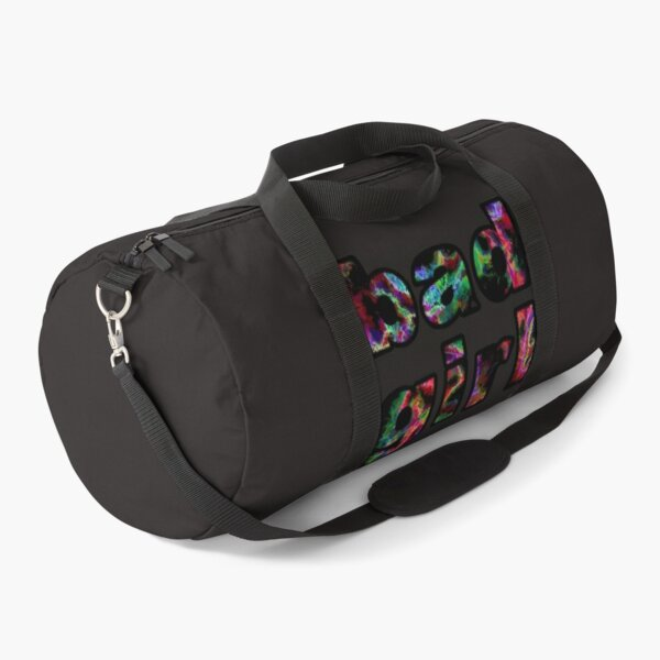 bad girl inscription. Text on an abstract background. Word design.  Duffle Bag