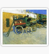 Van Gogh painting of carriages Sticker