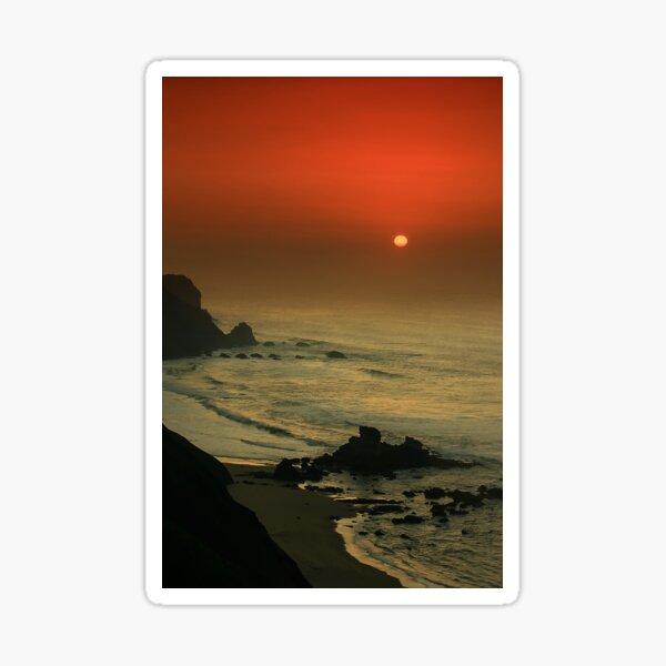 Castelejo Beach Sunset Sticker