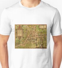 Cambridge Vintage map.Geography Great Britain ,city view,building,political,Lithography,historical fashion,geo design,Cartography,Country,Science,history,urban T-Shirt