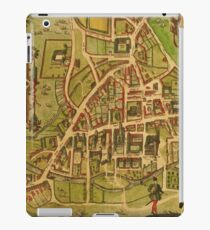 Cambridge Vintage map.Geography Great Britain ,city view,building,political,Lithography,historical fashion,geo design,Cartography,Country,Science,history,urban iPad Case/Skin