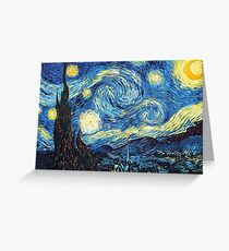 The Starry Night Vincent Van Gogh Greeting Card