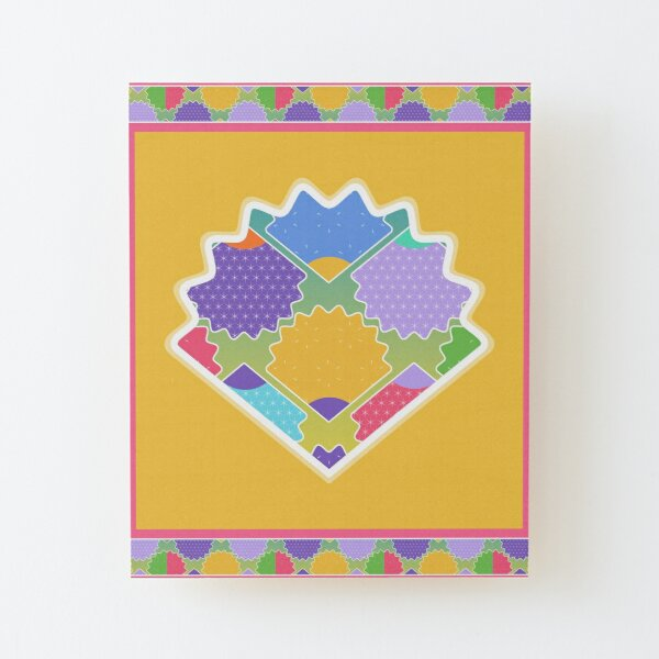 Colorful Hero Shell Wood Mounted Print