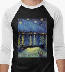 Vincent Van Gogh painting Men's Baseball ¾ T-Shirt