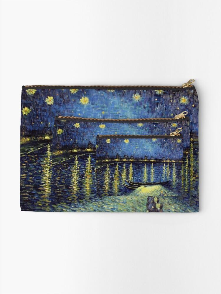 Alternate view of Vincent Van Gogh painting Zipper Pouch