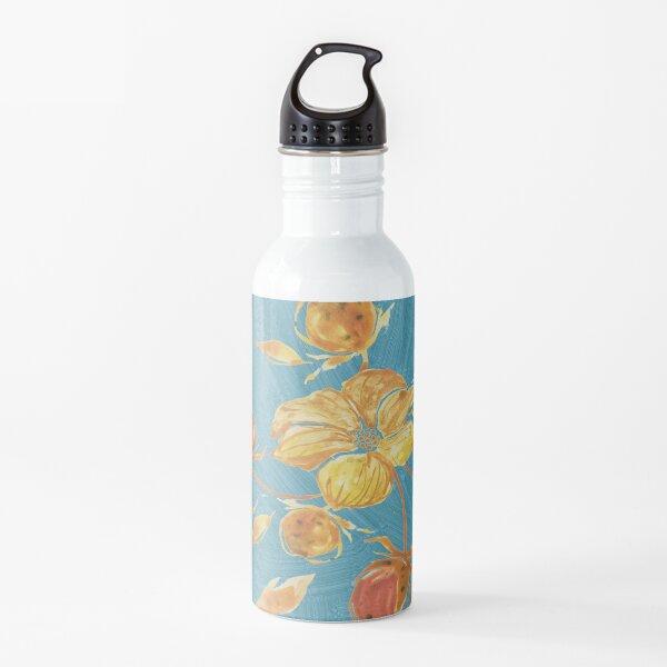 Rusty watercolor flowers pattern Water Bottle