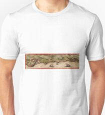 Cascais Vintage map.Geography Portugal ,city view,building,political,Lithography,historical fashion,geo design,Cartography,Country,Science,history,urban T-Shirt