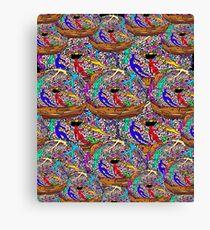 Human Donut Sprinkles Pattern Canvas Print
